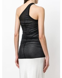 Rick Owens Lilies One Shoulder Fitted Vest