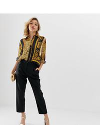 Asos Petite Asos Design Petite Elasticated Clean Tapered Trouser