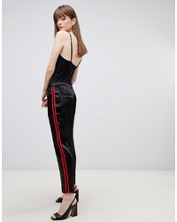 ASOS DESIGN Cigarette Trousers In Luxe Satin