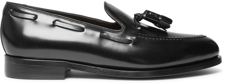 ... Black Tassel Loafers Paul Smith Simmons Tasselled Polished Leather  Loafers ...