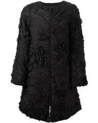 Emporio Armani Fringed Texture Coat