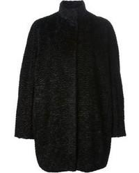 Alexander McQueen Karakul Cocoon Coat