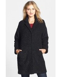 Eileen Fisher Notch Collar Curly Alpaca Blend Coat
