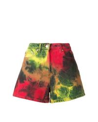 MSGM Tie Dye Denim Shorts