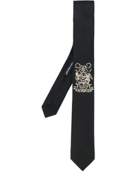 Alexander McQueen Insignia Embroidered Tie