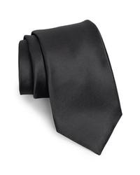 Nordstrom Woven Silk Tie Black X Long X Long