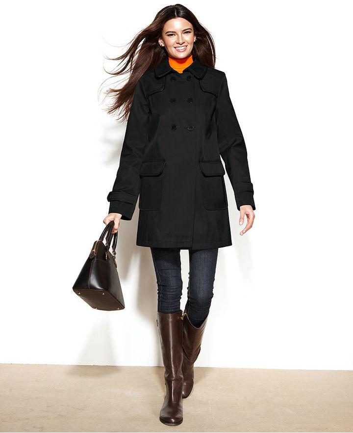 Petite Black Trench Coat - Coat Nj