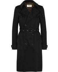 Saint Laurent Gabardine Trench Coat Black