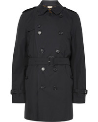 Burberry Kensington Mid Length Weatherproof Cotton Gabardine Trench Coat