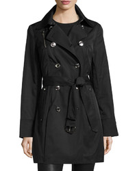 MICHAEL Michael Kors Michl Michl Kors Double Breasted Trench Coat Black