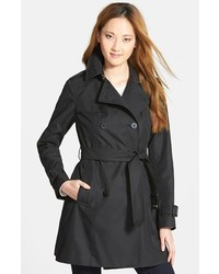 Diane von Furstenberg Sandrine Pleat Back Trench Coat