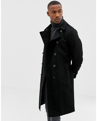 ASOS DESIGN Shower Resistant Longline Trench Coat With Belt In Black