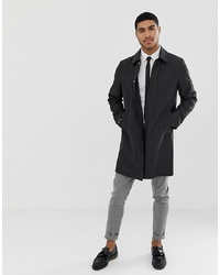 ASOS DESIGN Shower Resistant Trench Coat In Black