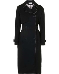 Topshop Premium Raw Edge Trench Coat