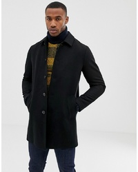 ASOS DESIGN Wool Mix Trench Coat In Black