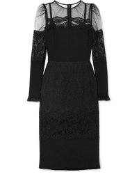 Dolce & Gabbana Tulle And Med Cady Dress