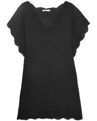 Marysia Swim Marysia Shelter Island Crocheted Cotton Tunic Black