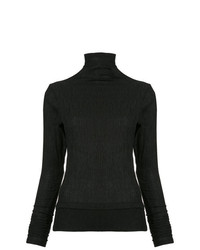 Taylor Crinkle Turtleneck Top