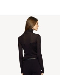 Ralph Lauren Black Label Denim Ribbed Turtleneck