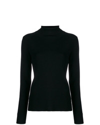 Tory Burch Ribbed Knit Roll Neck Sweater