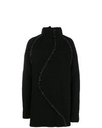 Yohji Yamamoto Stitched Chunky Turtleneck Sweater