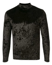 Maison Margiela Velvet Fitted Long Sleeve Top