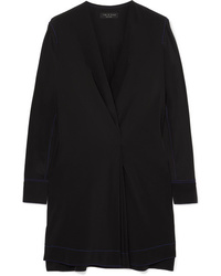 Rag & Bone Shields Pleated Wrap Effect Silk Crepe De Chine Mini Dress