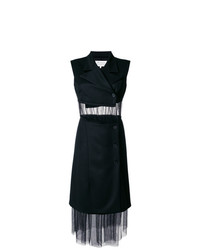 Maison Margiela Sleeveless Tulle Panel Blazer Dress