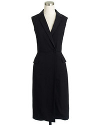 J.Crew Tuxedo Wrap Dress In Italian Wool Crepe