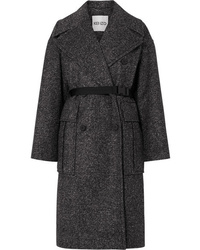 Kenzo Belted Tweed Coat