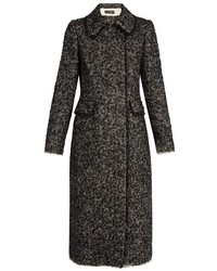 Dolce & Gabbana Double Breasted Boucl Tweed Coat