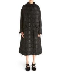 Simone Rocha Metallic Tweed Coat