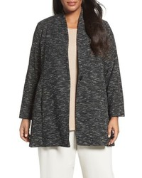 Eileen Fisher Plus Size Tweedy Organic Cotton Blend Jacket