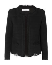 IRO Wondrous Distressed Cotton Blend Boucl Jacket