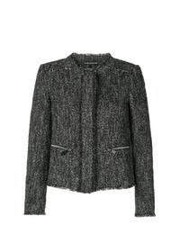 Luisa Cerano Zip Pocket Tweed Jacket