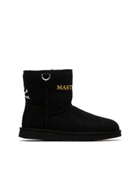 Mastermind Japan Black X Ugg Shearling Lined Suede Ankle Boots