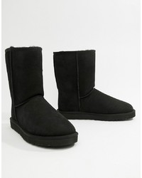 UGG Classic Short Boots In Black Suede