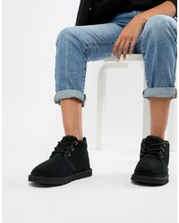 UGG Neumel Black Lace Up Ankle Boots