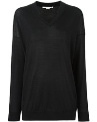 Stella McCartney Ridged V Neck Jumper