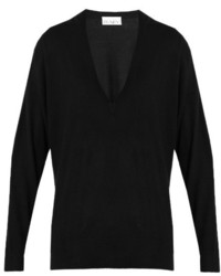 Raey Ry V Neck Fine Knit Cashmere Sweater