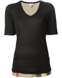 Women s Black V-neck T-shirts by Burberry   Women s Fashion ccdb1c4461d