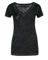 Print t shirt mottled black medium 3894790