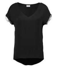 Vila Visnila Print T Shirt Black