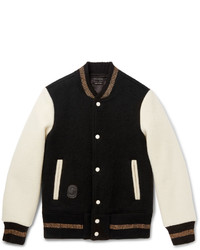 Marc Jacobs Felted Wool Varsity Jacket