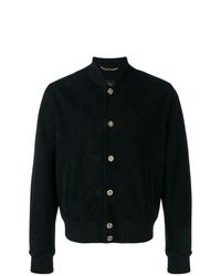 Versace Medusa Buttoned Bomber Jacket