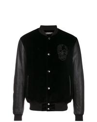 Alexander McQueen Sequin Skull Bomber Jacket