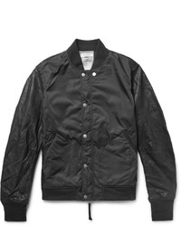 Nonnative Student Leather And Shell Varsity Jacket