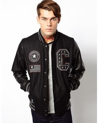 Criminal Damage Varsity Jacket With Stars