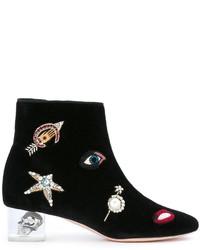 Alexander McQueen Skull Heel Ankle Boots