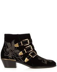 Chloé Chlo Susanna Velvet Ankle Boots